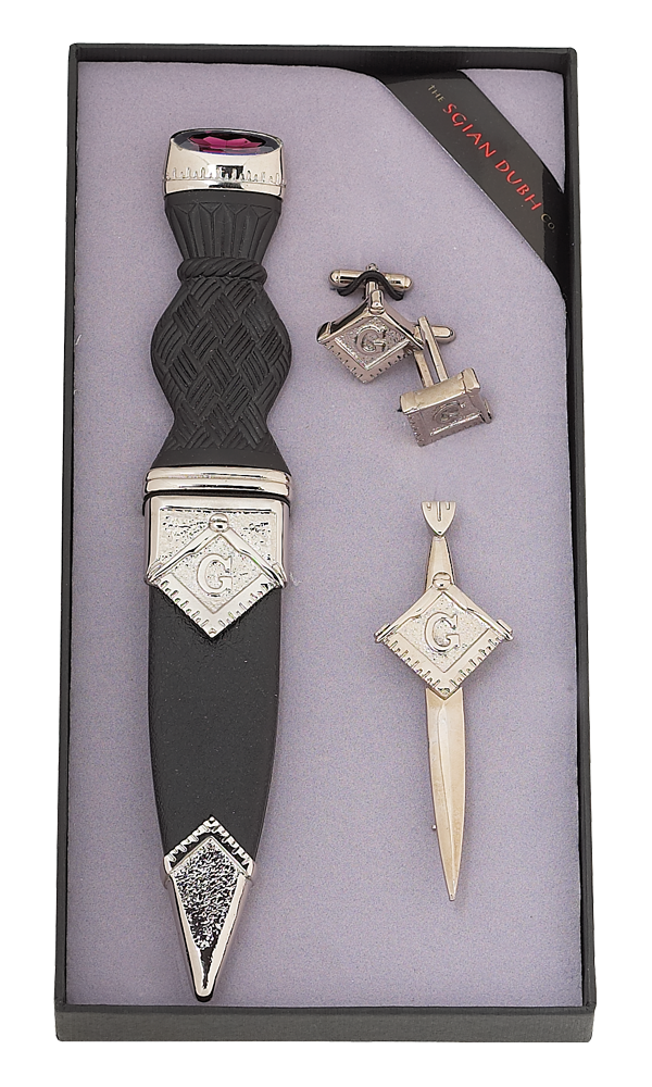 Masonic 3 Piece Gift Set With Stone Top