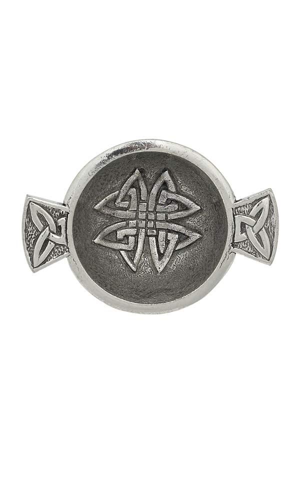 "1.75"" Celtic Knot Mini Pewter Quaich"