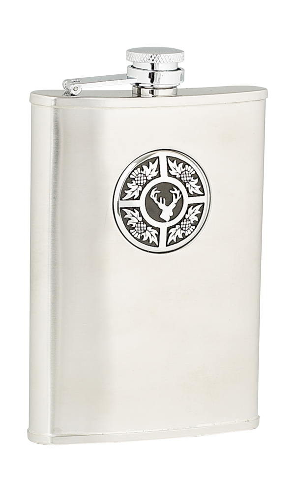 8oz Thistle & Stag Stainless Steel Flask