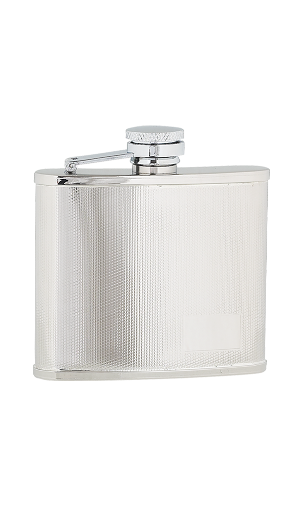 4oz Checked Stainless Steel Flask