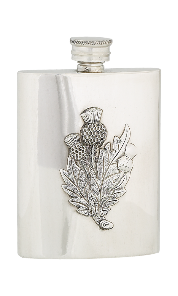 4oz Thistle Pewter Flask