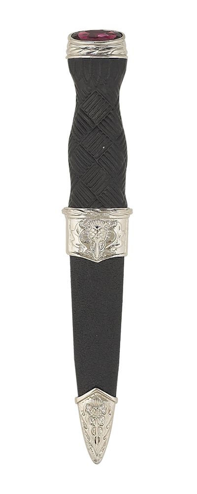 Imitation Thistle Sgian Dubh With Stone Top