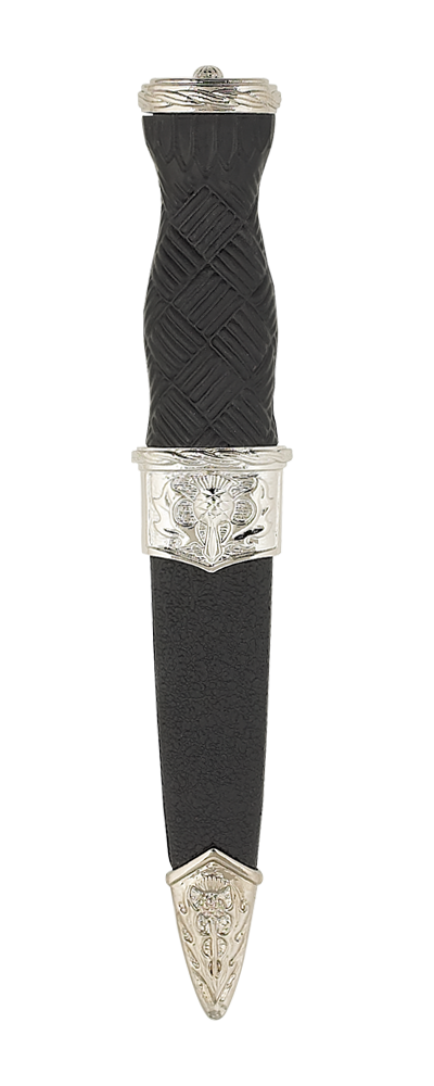 Imitation Thistle Sgian Dubh With Plain Top