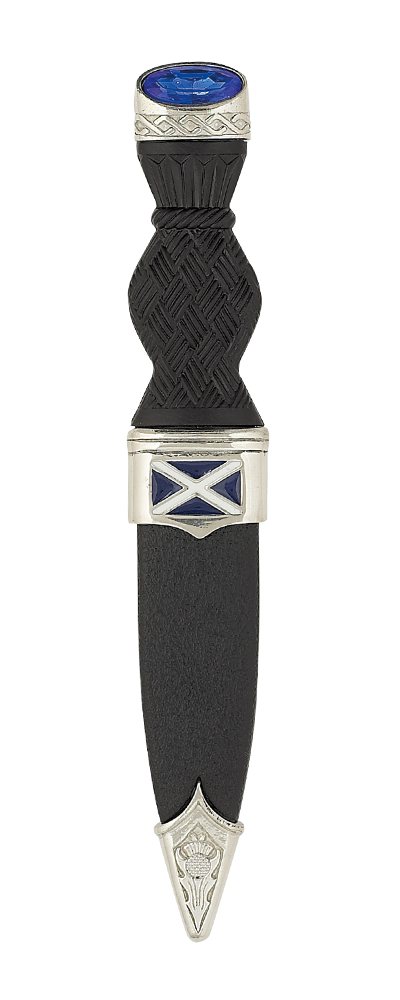 Saltire Sgian Dubh With Stone Top