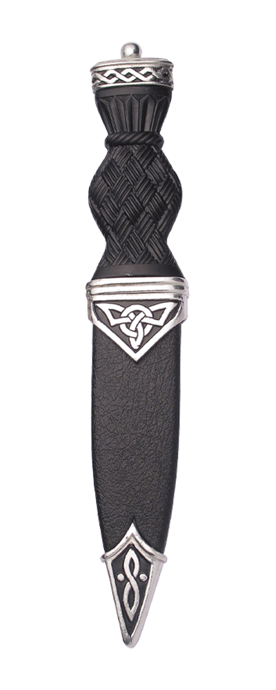 Celtic Polished Sgian Dubh With Plain Top