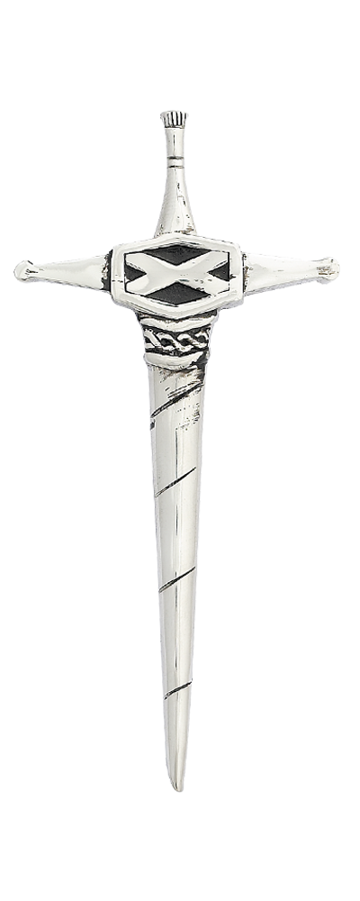 Scottish Saltire Kilt Pin