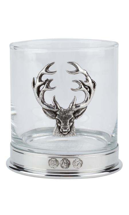 Stag Whisky Glass Pair