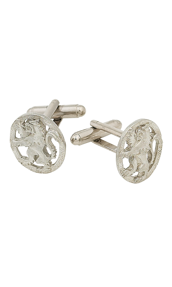 Lion Rampant Polished Cufflinks Thumbnail