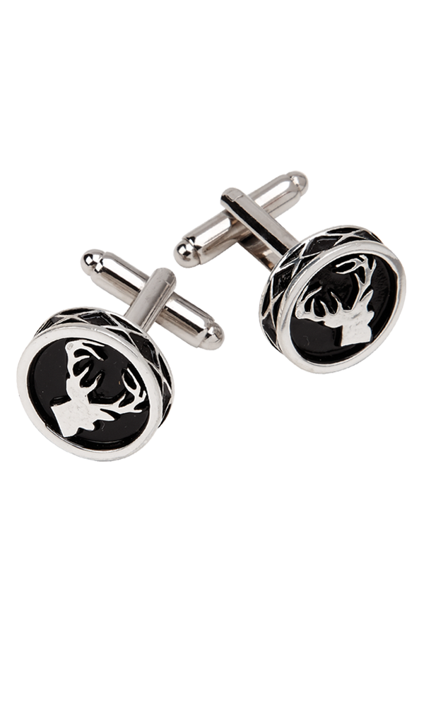 Stag Round Cufflinks Thumbnail