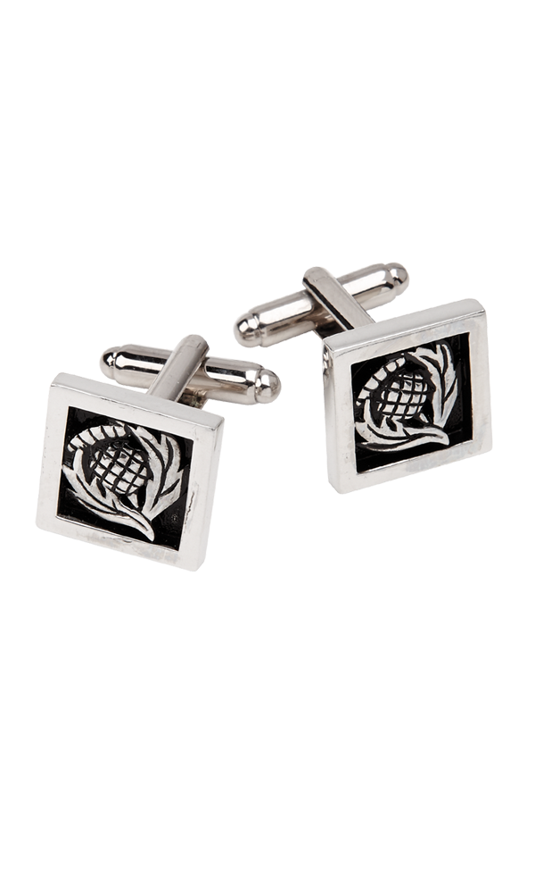 Square Thistle Cufflinks Thumbnail