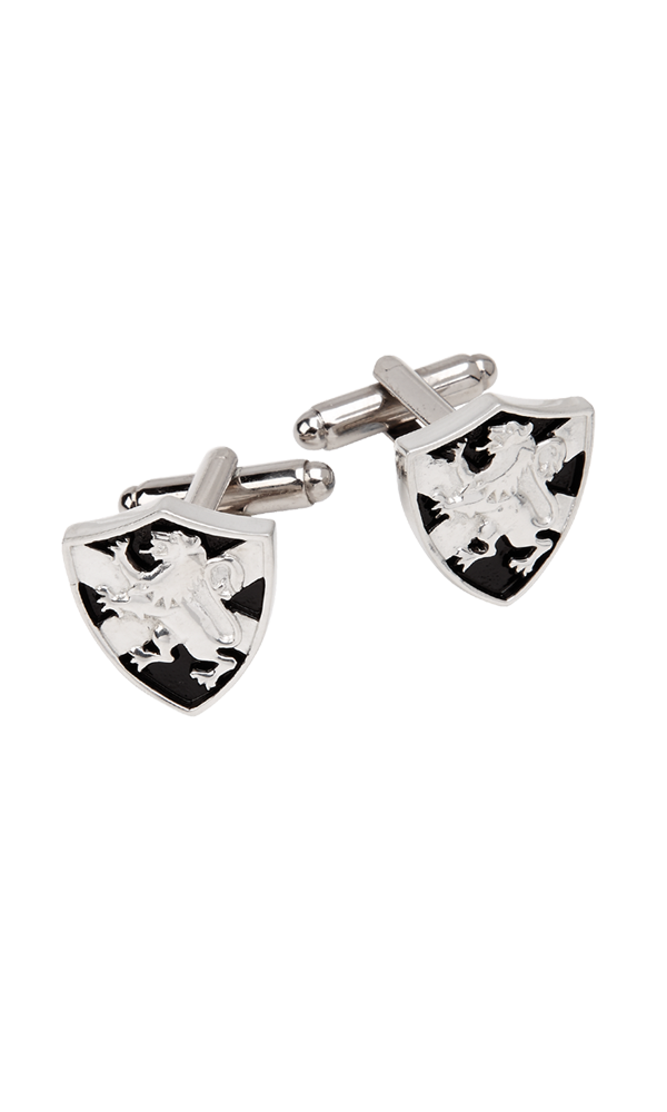 Lion Rampant & Saltire Shield Cufflinks Thumbnail