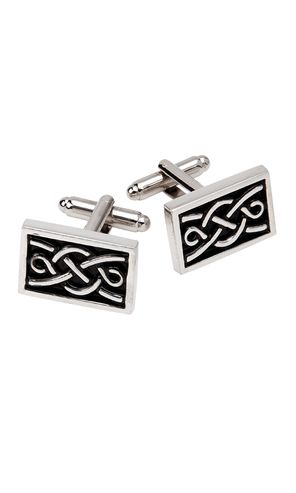 Rectangle Celtic Cufflinks Thumbnail
