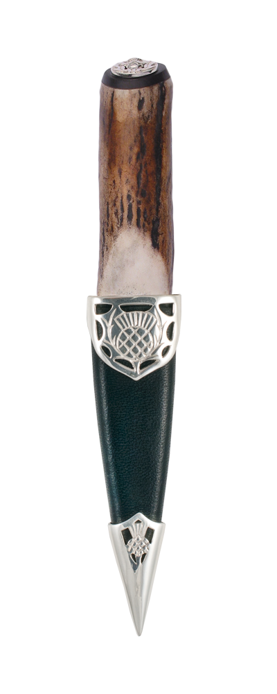 Staghorn Sterling Silver Sgian Dubh Thumbnail