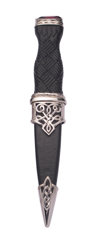 Lomond Plated Sgian Dubh With Stone Top Thumbnail
