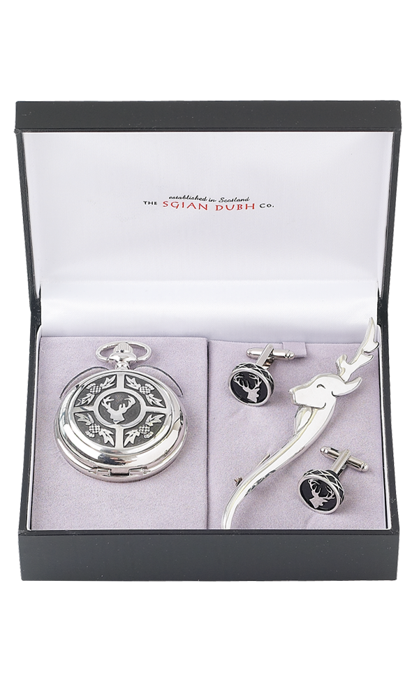 Stag Head 3 Piece Mechanical Watch Gift Set Thumbnail