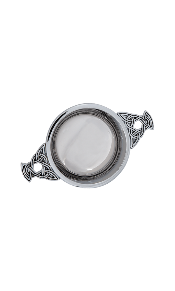 "2"" Celtic Chrome Plated Quaich  Thumbnail"