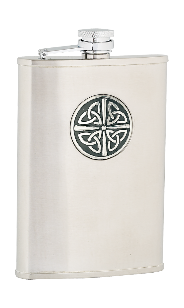 8oz Celtic Knot Stainless Steel Flask Thumbnail