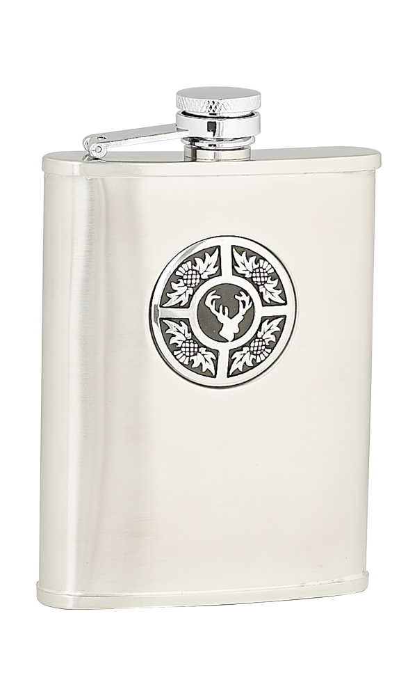6oz Thistle & Stag Stainless Steel Flask Thumbnail
