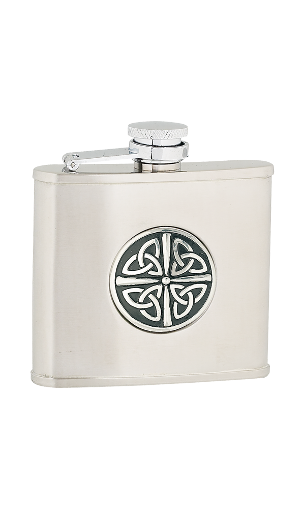 4oz Celtic Knot Stainless Steel Flask Thumbnail