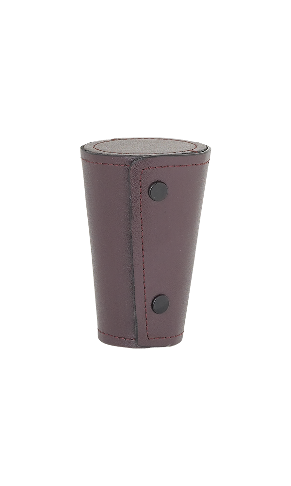 Set Of 4 Large Cups In Burgundy Leather Case Thumbnail
