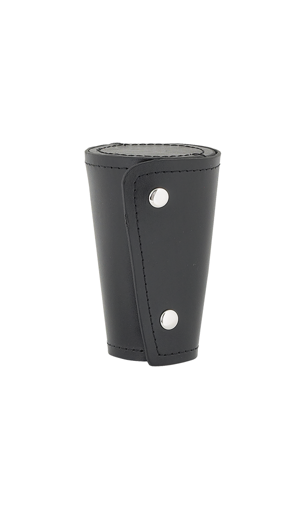 Set Of 4 Large Cups In Black Leather Case Thumbnail