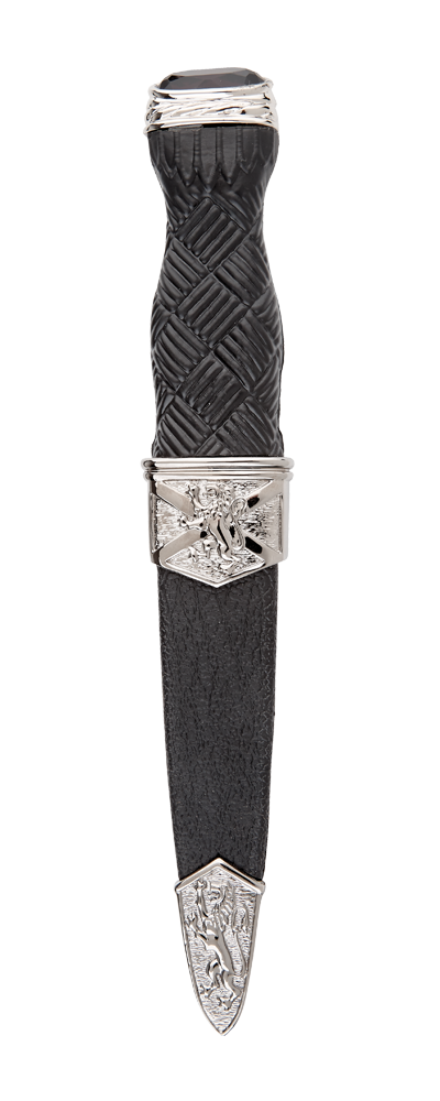 Imitation Lion Rampant Sgian Dubh With Stone Top Thumbnail