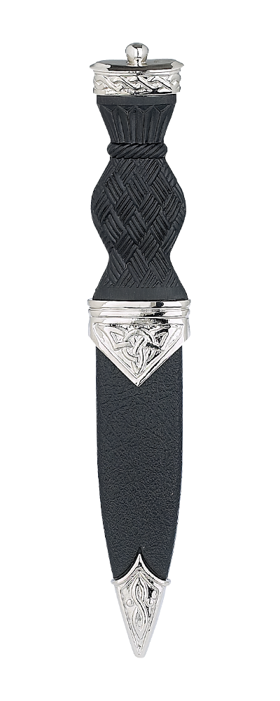 Celtic Plated Sgian Dubh With Plain Top Thumbnail