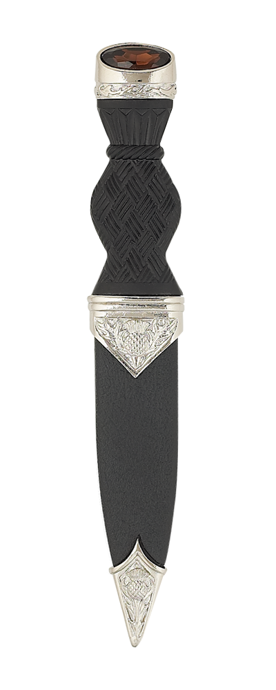 Nevis Thistle Sgian Dubh With Stone Top Thumbnail