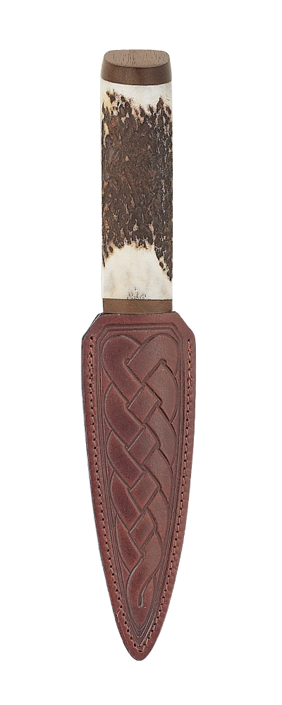 Staghorn Bottle Opener Sgian Dubh With Walnut Thumbnail