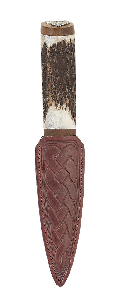 Scottish Staghorn Staghead Sgian Dubh With Walnut Thumbnail