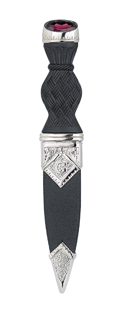 Masonic Sgian Dubh With Stone Top Thumbnail