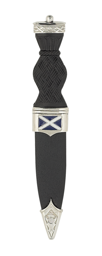 Saltire Sgian Dubh With Plain Top Thumbnail