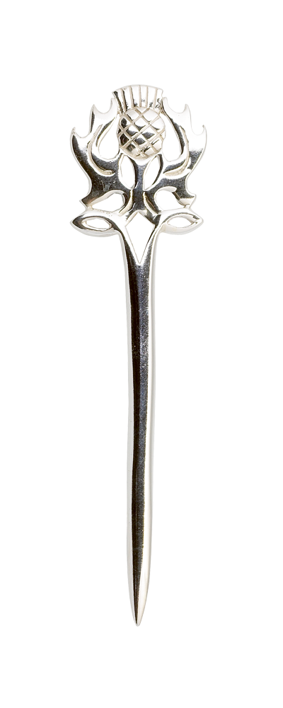 Scottish Thistle Silver Kilt Pin Thumbnail