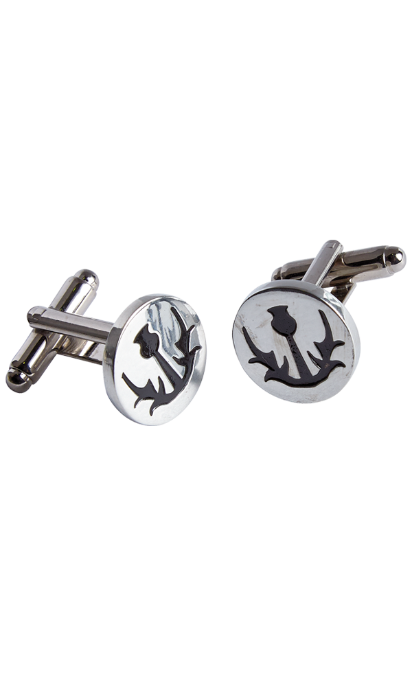 Simple Thistle Cufflinks Thumbnail