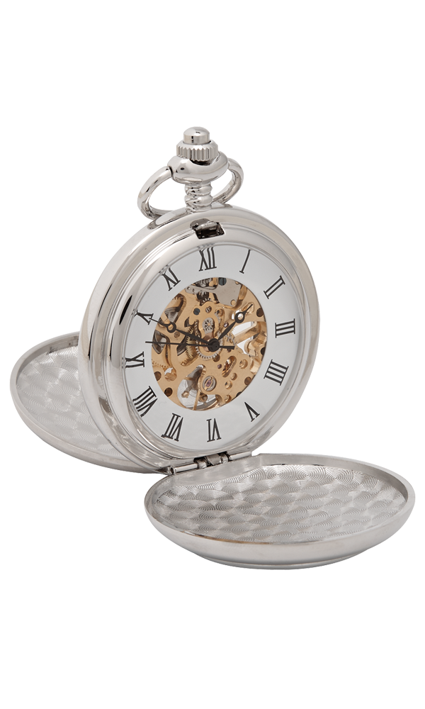 Stag Head 3 Piece Mechanical Pocket Watch Gift Set Thumbnail