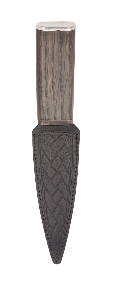 Bog Oak Arisaig Sgian Dubh With Pewter Cap Thumbnail