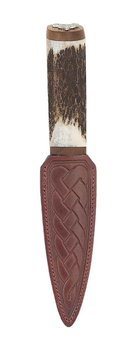 Antler Stag With Walnut And Damascus Blade Thumbnail