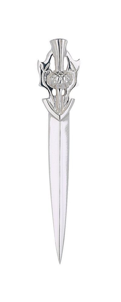 Scottish Thistle Dirk Silver Kilt Pin
