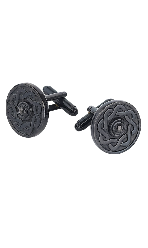 Black Celtic Cufflinks