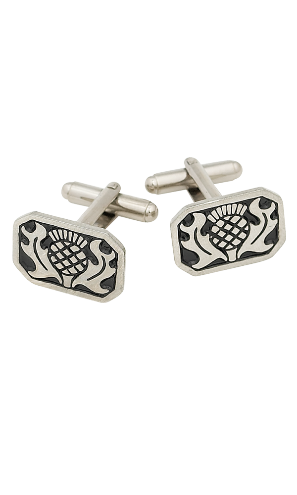 Rectangle Thistle Cufflinks