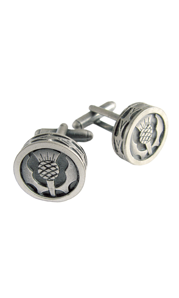 Round Thistle Matt Cufflinks