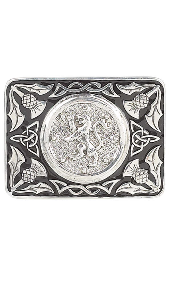 Lion Rampant Enamel Belt Buckle