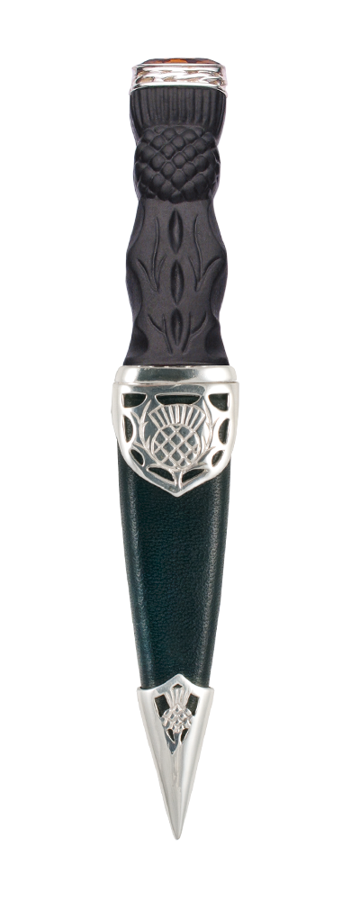 Carrick Silver Sgian Dubh With Stone Top