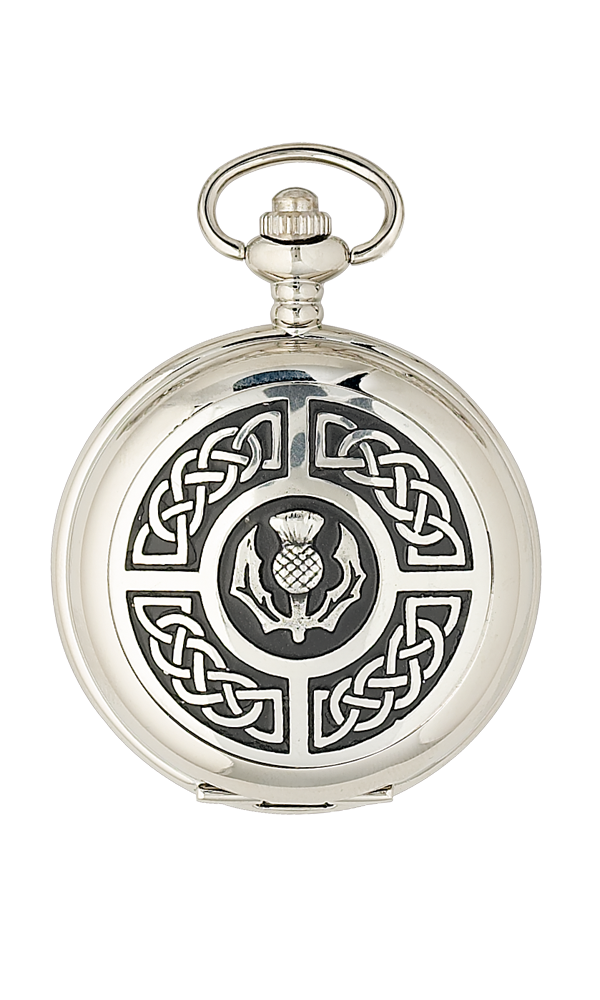 Celtic & Thistle Mechanical Pocket Watch