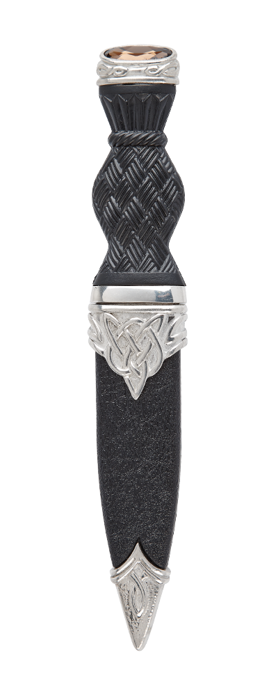 Brora Polished Sgian Dubh With Stone Top