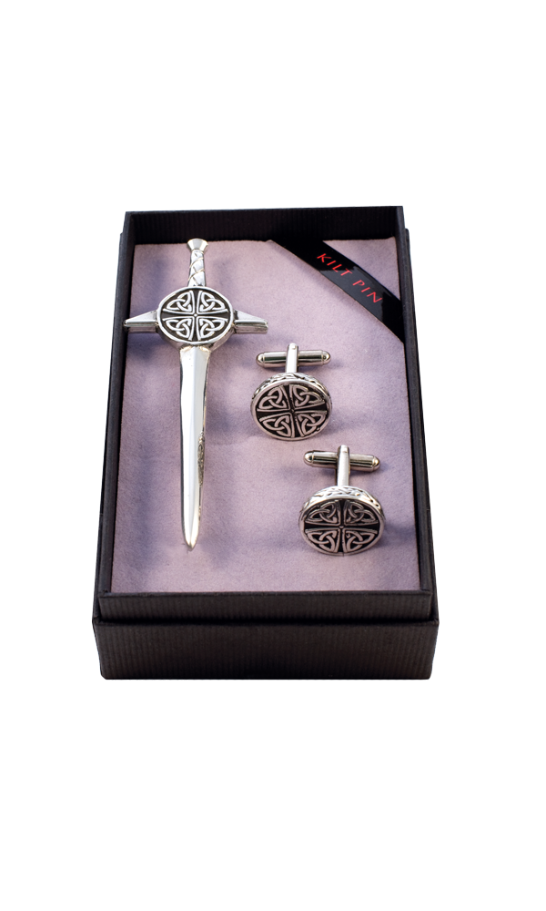 Celtic Kilt Pin & Cufflink Set