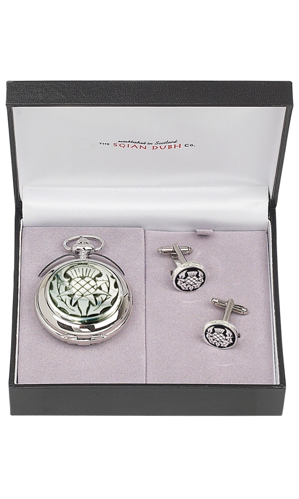 Thistle 2 Piece Mechanical Pocket Watch Gift Set