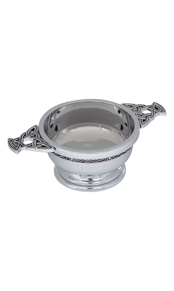 "3"" Celtic Chrome Plated Quaich"