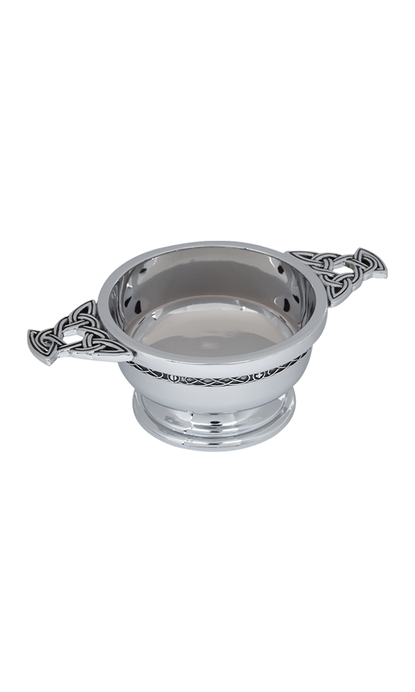 "2.5"" Celtic Chrome Plated Quaich"
