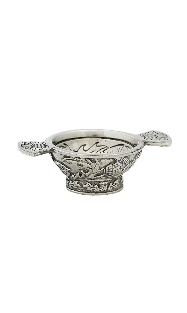 "1.25"" Thistle Mini Pewter Quaich"